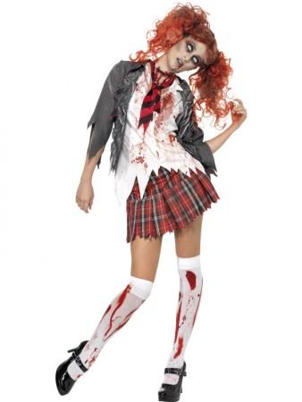High School Horror Zombie Schoolgirl Costume c90445d85ced2