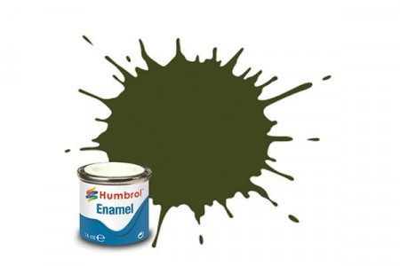Paint enamel matt 14 ml khaki drab