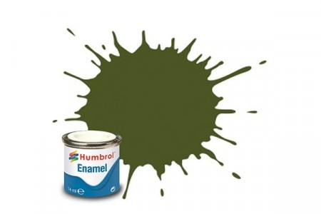 Paint enamel matt 14 ml forest green