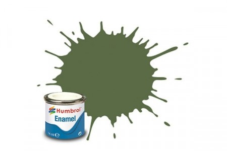 Paint enamel matt 14 ml grass green