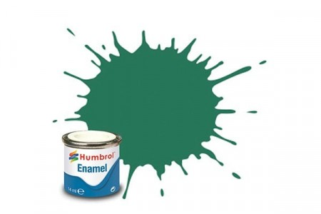 Paint enamel matt 14 ml mid green