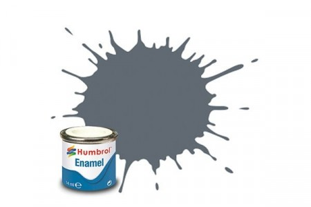 Paint enamel matt 14 ml medium grey
