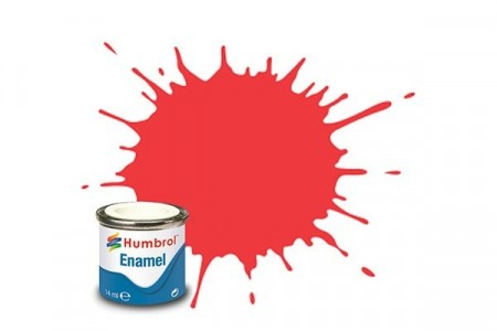 Paint enamel gloss 14 ml bright red