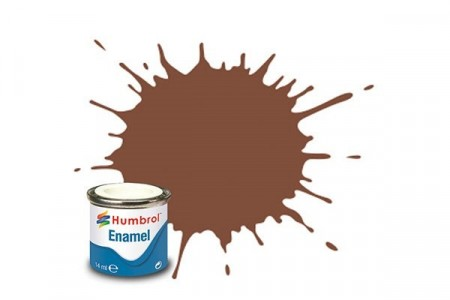Paint enamel matt 14 ml brown