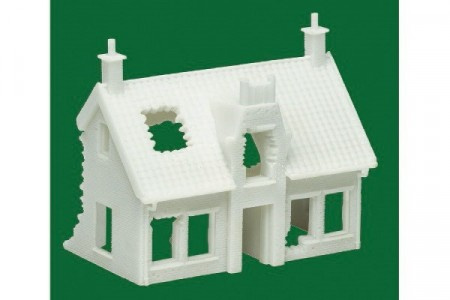EUROPEAN RUINED COTTAGE - (1:76 SCALE) 10/10
