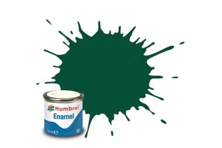 Paint enamel matt 14 ml cockpit green