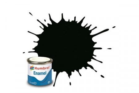 Paint enamel satin 14 ml dark green
