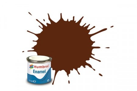 Paint enamel matt 14 ml german cam red brown