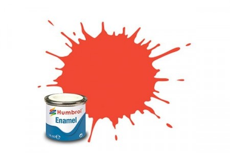 Paint enamel satin 14 ml signal red