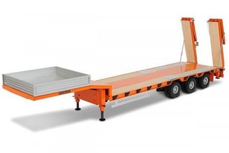 LOW LOADER TRAILER, 3 AKSLET, TIL LASTBIL 1/14